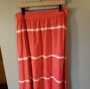 Chicos tie dye maxi skirt